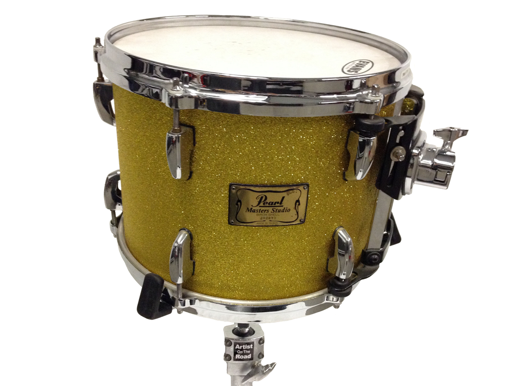 Pearl Masters Studio Drum Kit Gold Sparkle - Backline Rental Europe Amsterdam Netherlands