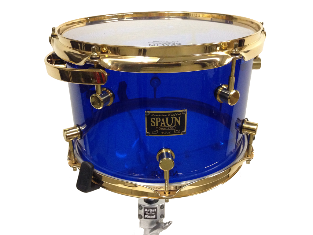 Spaun Drum Kit Blue Acrylic - Backline Rental Europe Amsterdam Netherlands