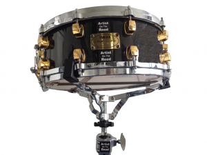 "Yamaha Maple Custom Black Maple (brass hardware accents) 14x5,5"" Snare Drum"